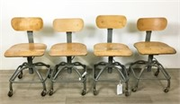 4 Bevco Precision Mfg. Co. Drafting Chairs
