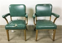 Pair of Steelcase Metal Armchairs