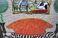Folk Art Acrylic Painting by Judy Henn