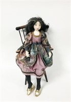 Cloth Doll in Windsor Chair