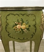 French Vanity w/Floral Decoration & Gilt Mounts