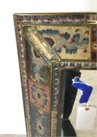 Mirror With Painted Glass Frame