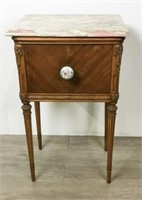 Marble Top Smoking Stand