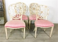 4 Web Back French Chairs