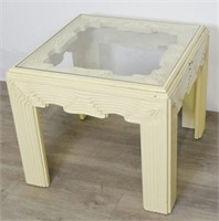 Modern Wood and Glass Side Table