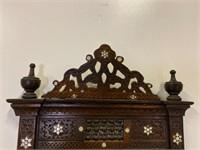 Carved and Inlaid Moorish Mirror