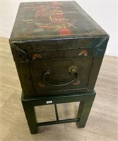 Chinese Painted Softwood Trunk