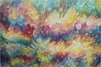 Modern Abstract Oil on Board
