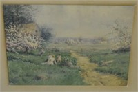 Watercolor Painting of Landscape by David Clark