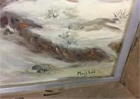 Oil on Canvas Signed Marj Lee