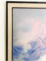 Tilottama Basu Oil Painting Of Mountains