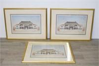 Three  Architectural Prints