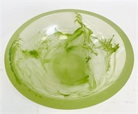 Acrylic or Lucite Art Bowl