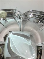3 Pairs of Glass Candlesticks, Orrefors Dish