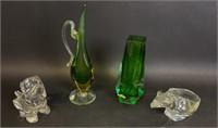 4 Piece Art Glass Lot