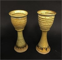 Stoneware Cooler and Chalices