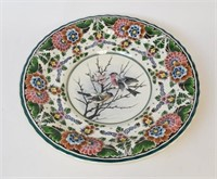 Large Delft Platter with Bird Motif