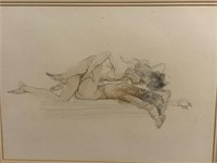 Signed Erotic Drawings