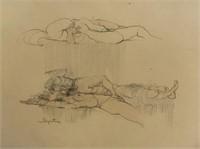 Signed Erotic Drawings