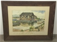 Signed Charlotte Livingston Watercolor
