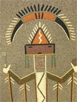 4 Pieces Native American Sand Art