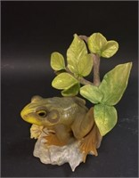 Cybis Frog & Boehm Bird Porcelain