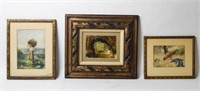 Grouping of Three Decorative Artwork Pieces