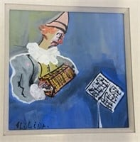 Signed Oil Paintings of Clowns