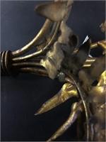 2 Gilt Brass Sconces