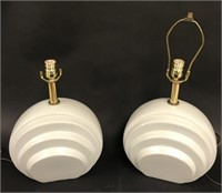 Four Pottery Lamps