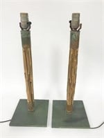 Pair of  Bamboo Lamps