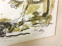 Richard Redd Lithograph , Signed Lithograph