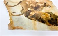 EG Bengert Painting on Marble