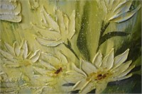 Mid Century Modern Acrylic of Water Lillies