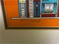 Signed Tony Graham Hand Colored Print