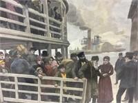 Amedee Forestier Print Russian Emigrants