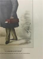 Vanity Fair Caricature Print, Interior Scene Print