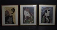 Japanese Prints Embellished with Stamps