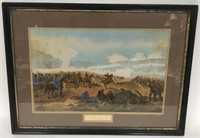 Battle of Plevna Colored Lithograph