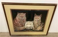 Bev Plath Print of Cats
