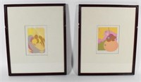 Set of Four Modern Abstract Prints