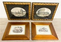 Four Framed Prints