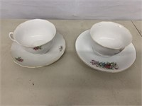 2 Tea cups and saucers