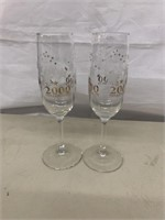 2000 Champaine Glasses