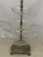 Vintage 3 tier fruit plate