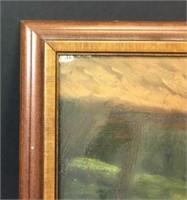Signed B Scott Oil on Canvas