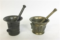 7 Brass and Bronze Mortars & Pestles