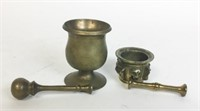 11 Bronze and Brass Mortars & Pestles