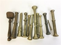 12 Brass and Bronze Pestles