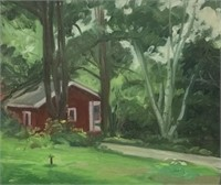 Oil on Canvas House in Landscape